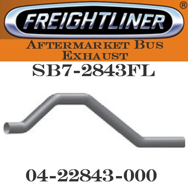 "04-22843-000 4"" Freightliner Bus Exhaust 4 Bend OD-OD ALZ"