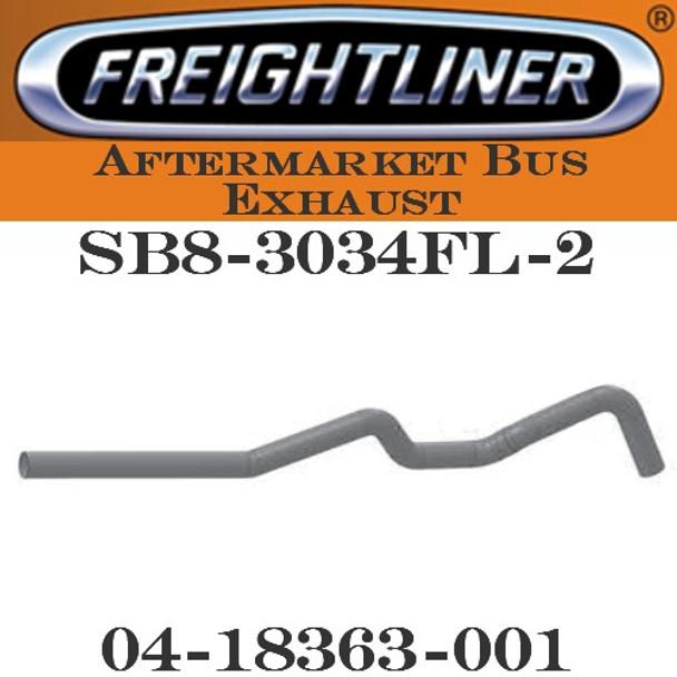 "SB8-3034FL-2 4"" Freightliner Bus Exhaust 6 Bend OD-OD ALZ"