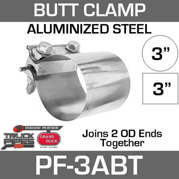 "3"" Preformed Aluminized Butt Joint Exhaust Clamp PF-3ABT"