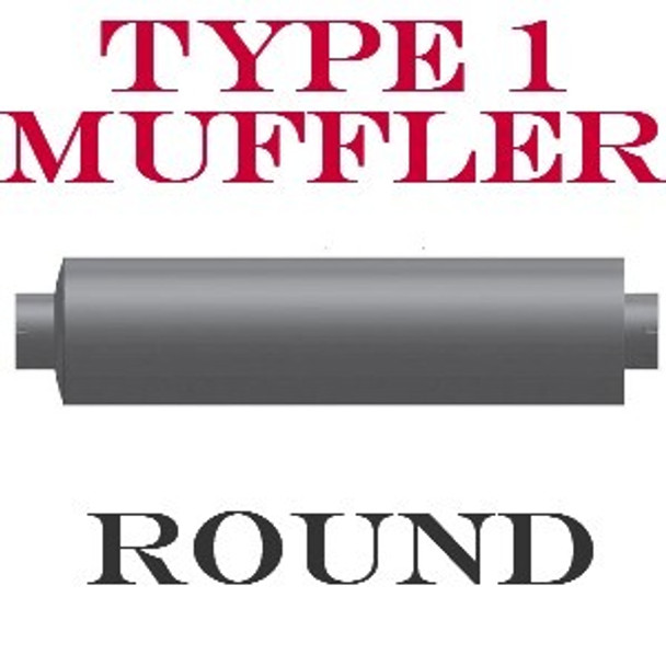 """M-844 Type 1 Muffler 12"""" Round 8"""" Inlet-Outlet Q-204-11 - SPECIAL ORDER"""