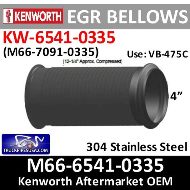 "EBPB11862 or M66-6541-0335 4"" X 12.25"" Peterbilt Bellow EGR Pipe"