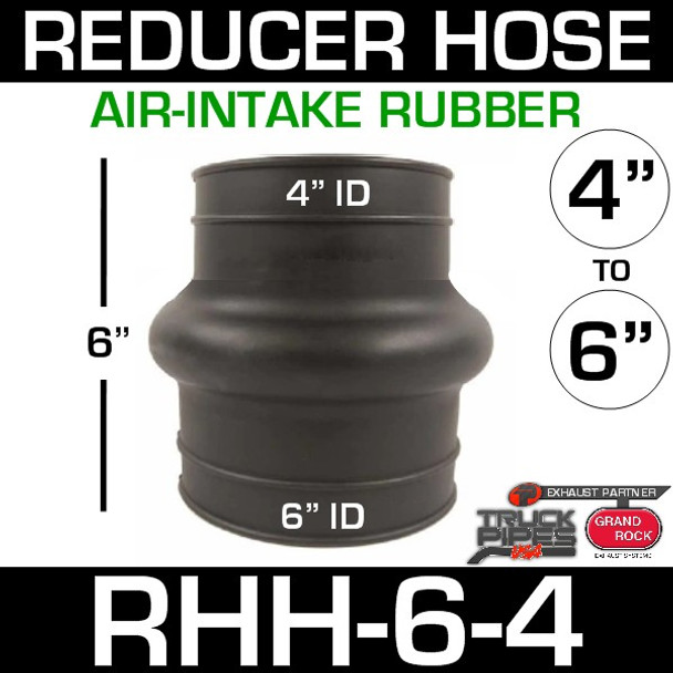 "6"" x 4"" Air Intake Rubber Reducer Hose RHH-6-4"