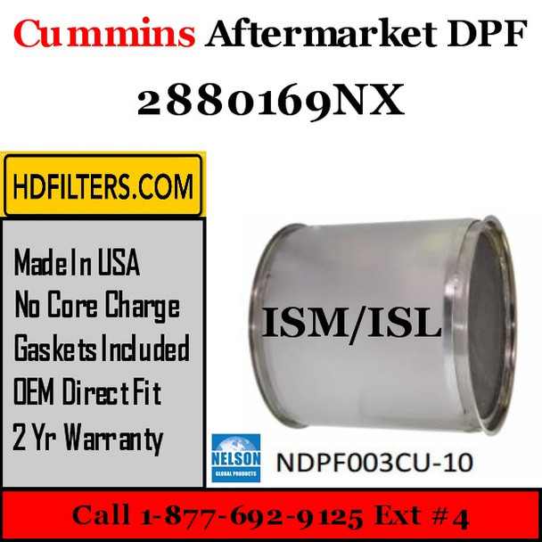 2880169NX Cummins ISM ISL Engine Diesel Particulate Filter DPF