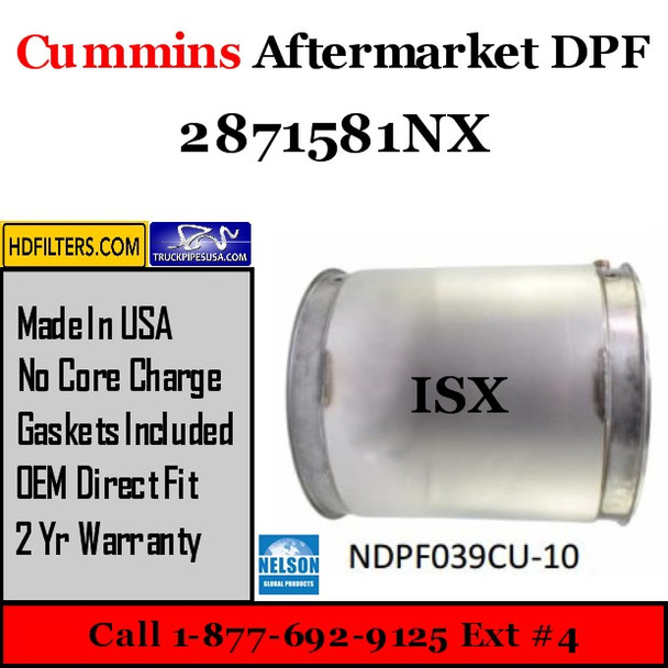 2871581NX Cummins ISX Engine Diesel Particulate Filter DPF
