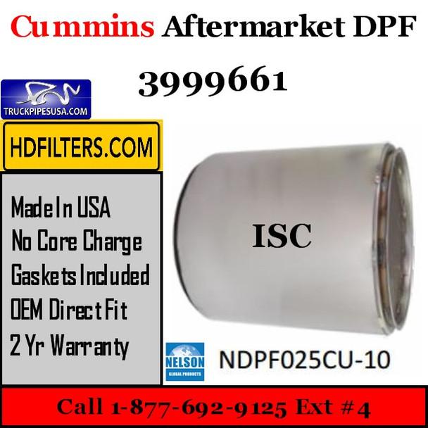3999661 Cummins ISC Engine Diesel Particulate Filter DPF