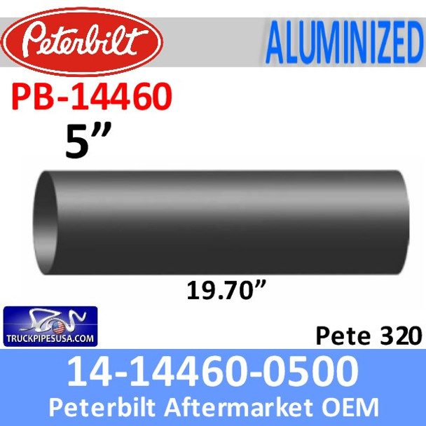 14-14460-0500 Peterbilt Exhaust Pipe PB-14460-0500