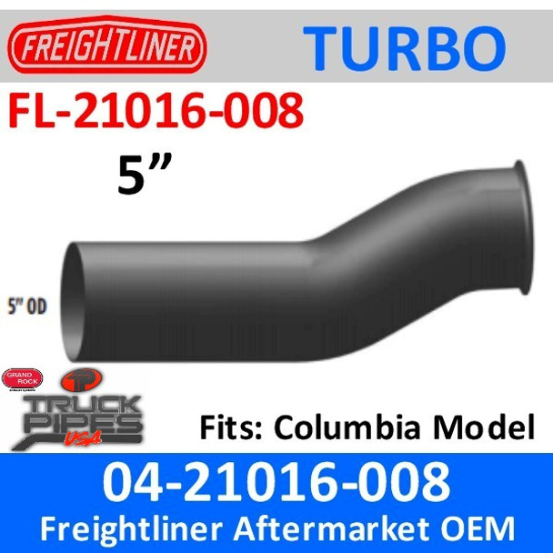 04-21016-008 Freightliner Exhaust Turbo Pipe FL-21016-008