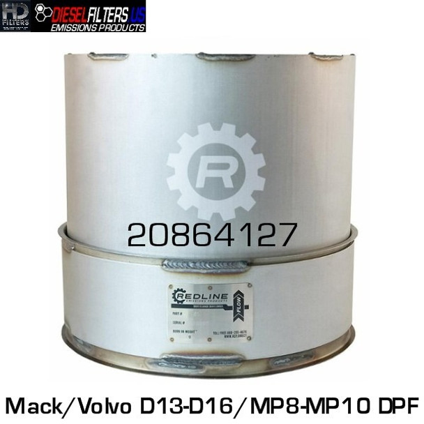 20864127 Mack/Volvo D13/D16/MP8/MP10 DPF (RED 52945)