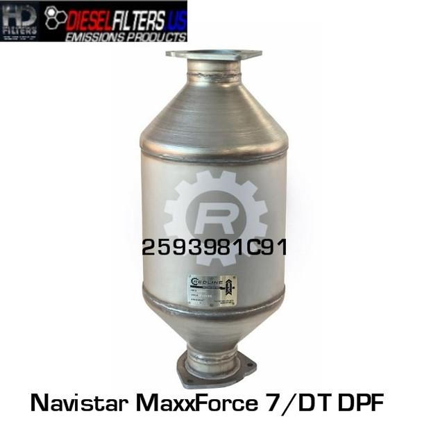 2593981R91 Navistar MaxxForce 7/DT DPF (RED 52960)