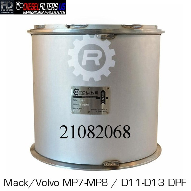 21082068/RED 52989 21082068 Mack/Volvo MP7/MP8-D11/D13 DPF (RED 52989)