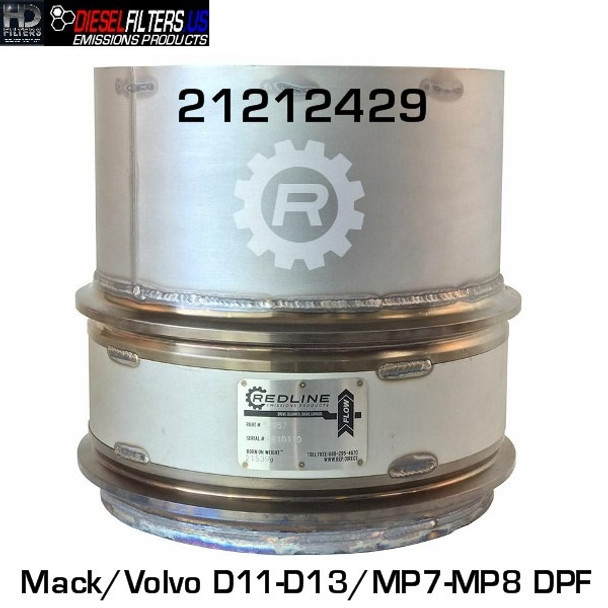 21212429/RED 52957 21212429 Mack/Volvo D11/D13/MP7/MP8 DPF (RED 52957)