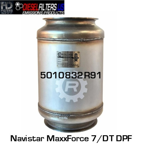 5010832R91 Navistar MaxxForce 7/DT DPF (RED 52941)