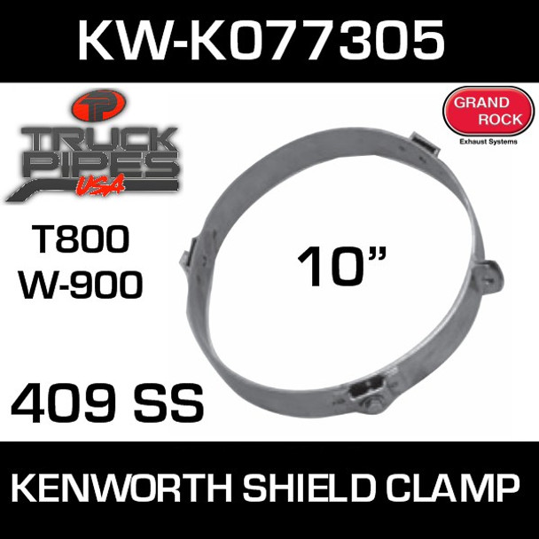 "Kenworth 409 Stainless Steel 10"" Heat Shield Bracket"