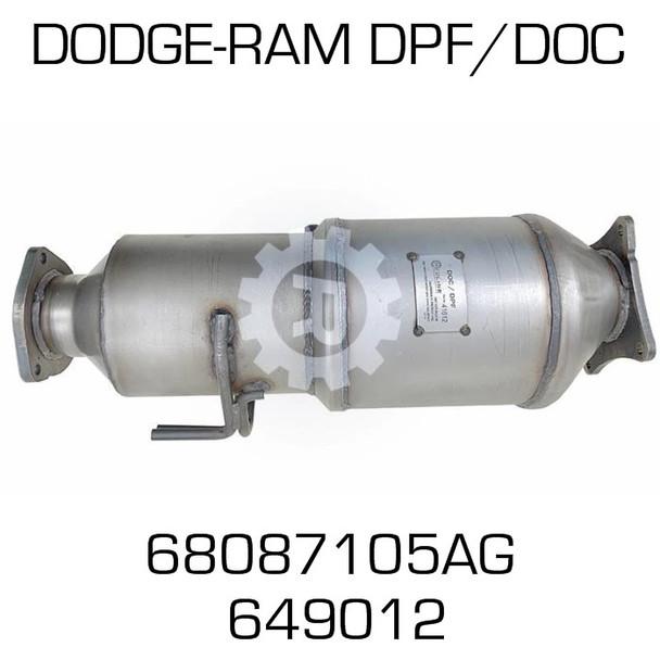 68087105AG Dodge Ram DPF/DOC Assy (REDLINE 41612)