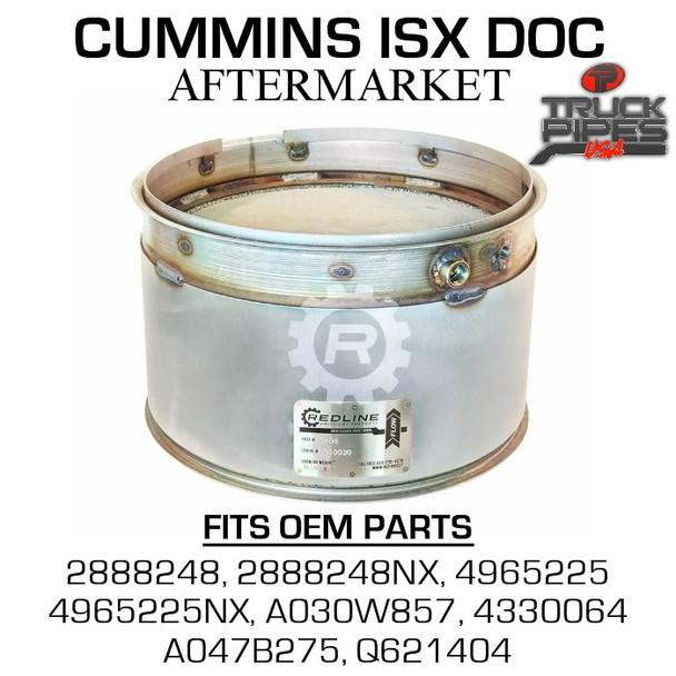4965225 Cummins ISX Diesel Oxidation Catalyst 58806