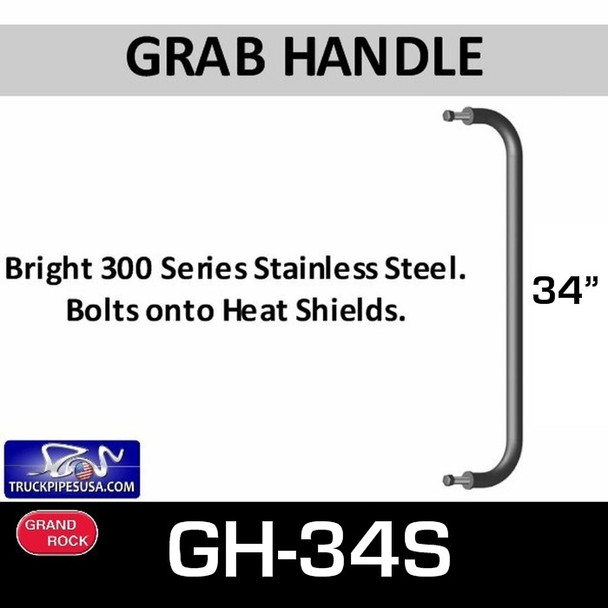 """34"""" Grab Handle Bright Stainless Steel GH-34S"""