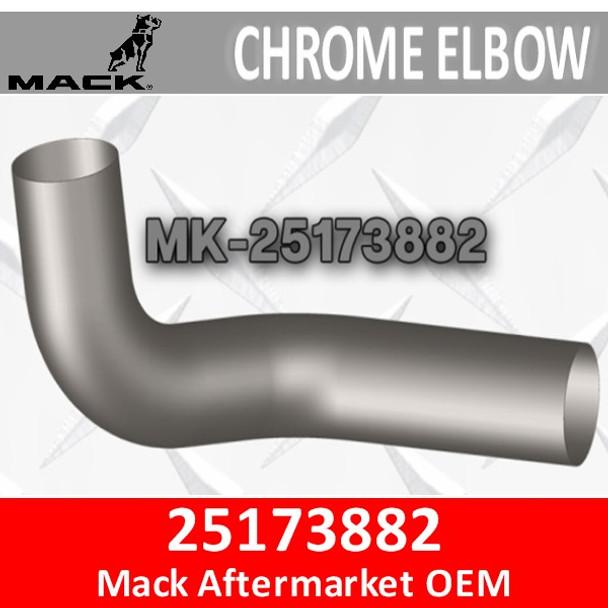 25173882 Mack CH & CL Chrome Exhaust Elbow MK-25173882C