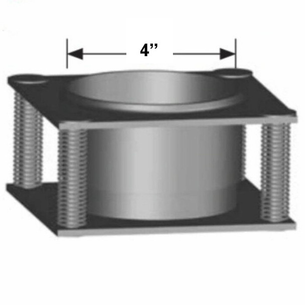 """4"""" Stainless Steel Spring Plate 4"""" Hole for heated dump bed - SPECIAL ORDER ( SP-4SS)"""
