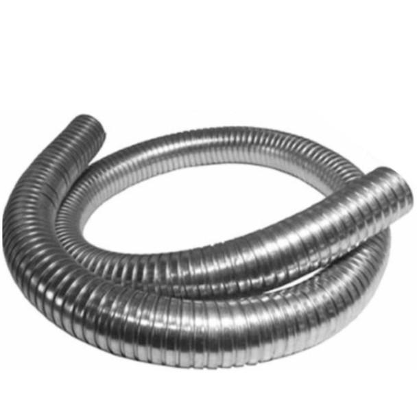 "2"" x 120"" .018 304 Stainless Steel Flex Exhaust Hose"