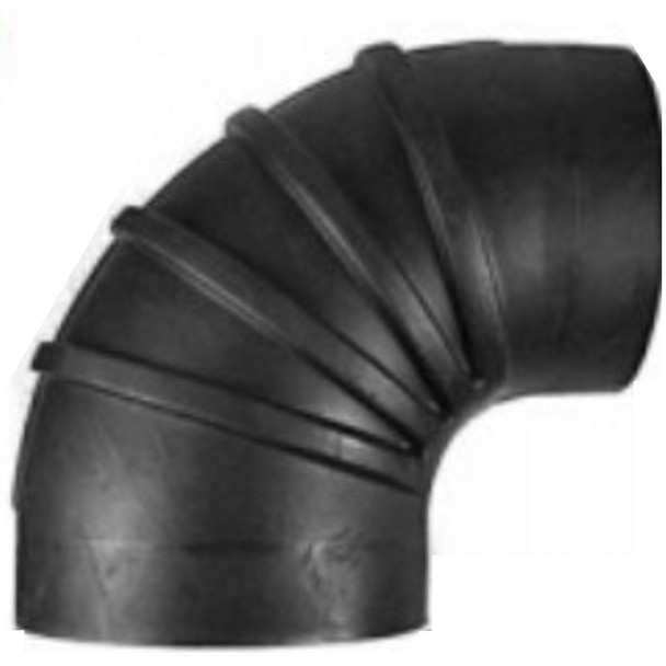 """8"""" ID Reduced to 7"""" ID 90 Degree Reducer Air Intake Rubber Elbow 7-8790"""