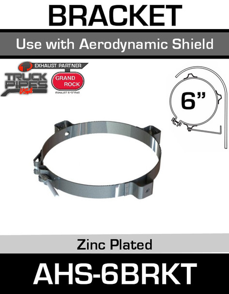 "6"" Aerodynamic Heat Shield Bracket AHS-6BRKT"