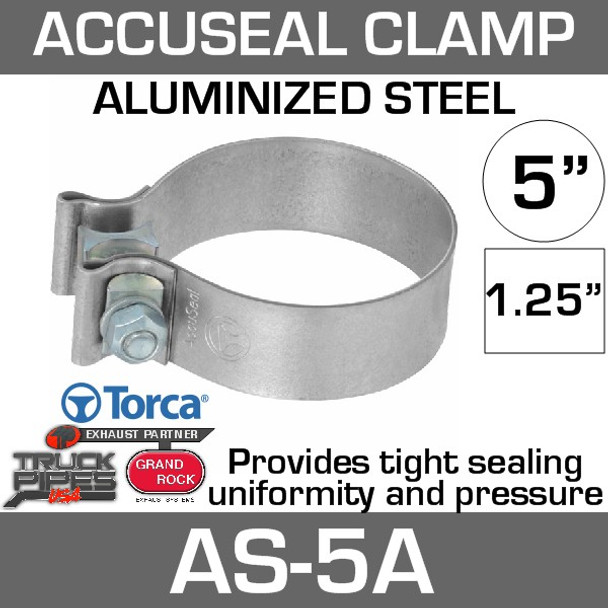 5 inch Aluminized AccuSeal Band Clamp AS-5A