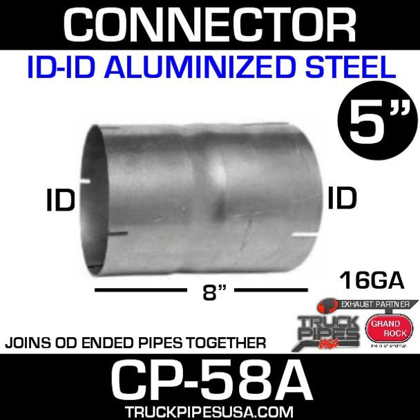 "5"" x 8"" Exhaust Coupler ID-ID Aluminized CP-58A"