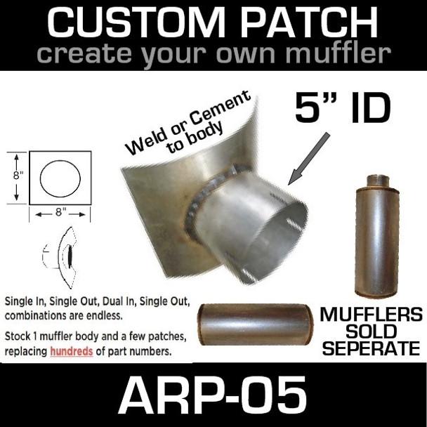 "5"" ID Universal Muffler Patch 8x8 ARP-05"