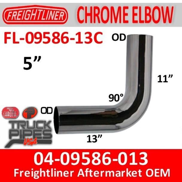 04-09586-013 Freightliner 90 Deg Chrome Exhaust Elbow FL-09586-013C
