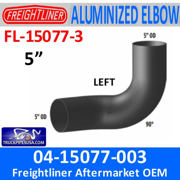 04-15077-003 Freightliner 90 Degree ALZ Left Side FL-15077-3