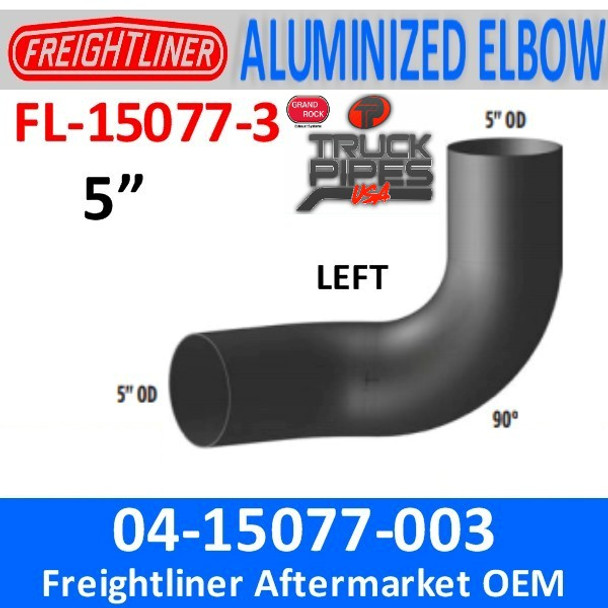 04-15077-003 Freightliner FLD 90 Degree ALZ Left Side FL-15077-3