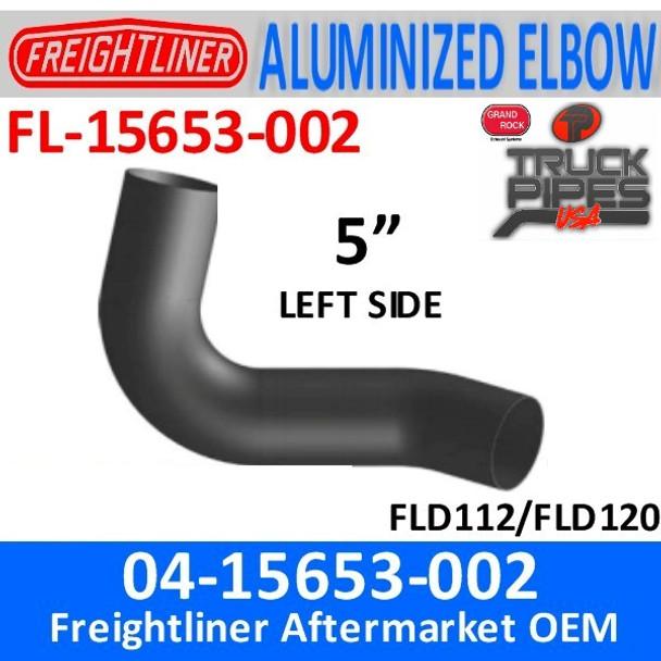 04-15653-002 Freightliner Aluminized Left Exhaust Elbow FL-15653-002
