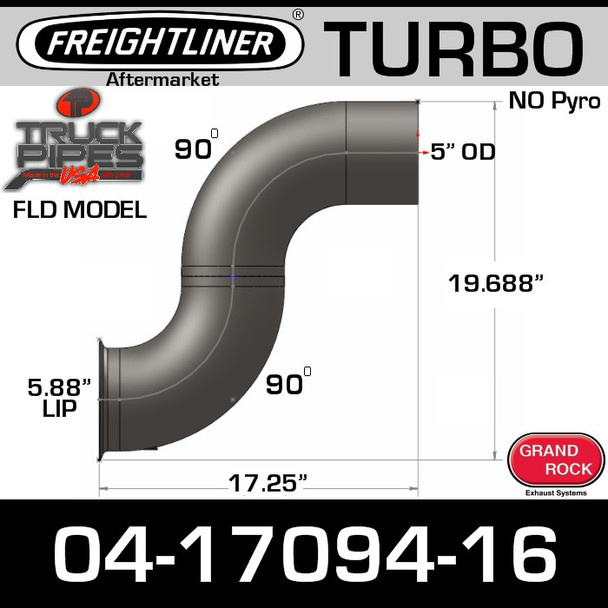 04-17094-016 Freightliner Turbo Exhaust NO Pyro FL-17094-016