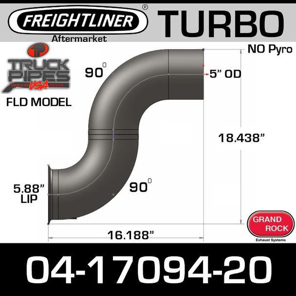 04-17094-020 Freightliner Turbo Exhaust NO Pyro FL-17094-020
