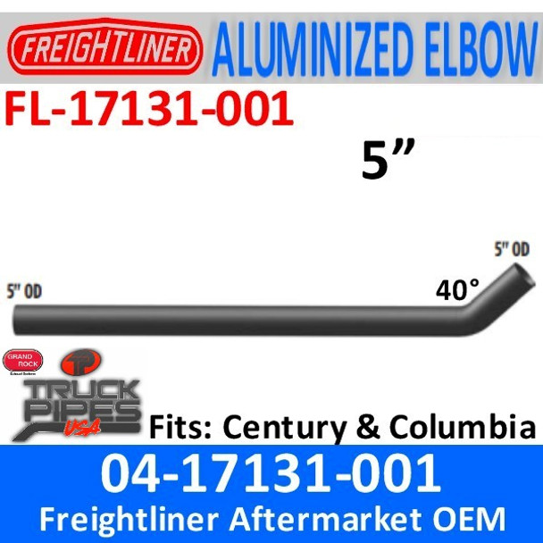 """04-17131-001 Freightliner Century 25.59"""" Short Connection Pipe"""