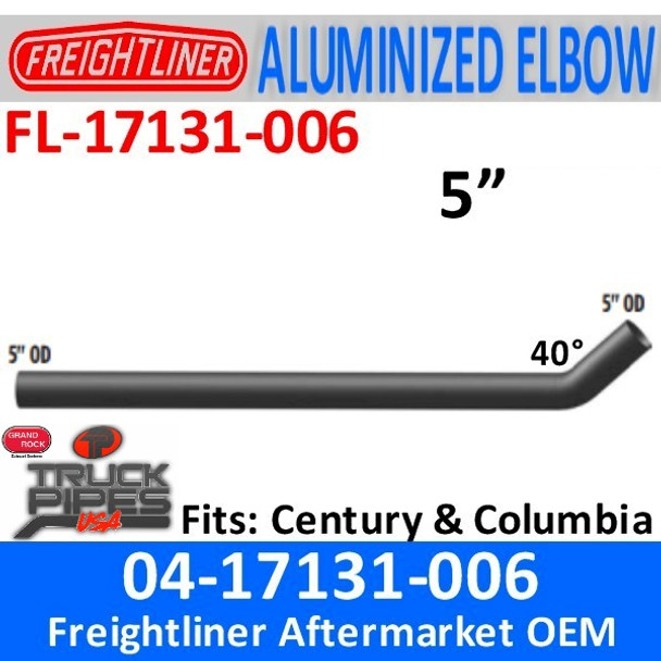 "04-17131-006 Freightliner Century 74.80"" Medium Connection Pipe"