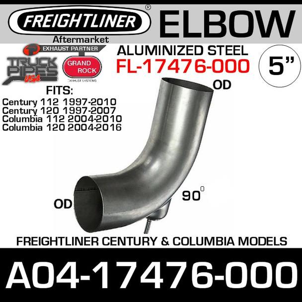A04-17476-000 Freightliner Aluminized Bolt-on Elbow FL-17476-000