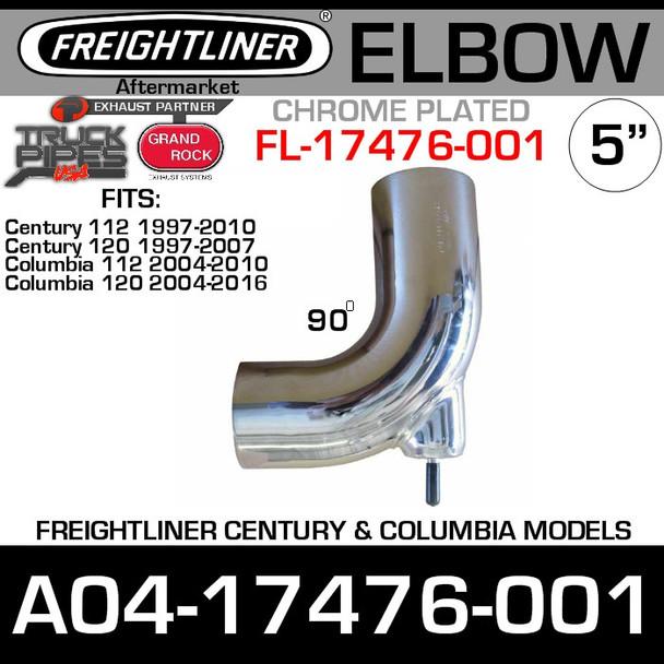 A04-17476-001 Freightliner Chrome Bolt On Elbow FL-17476-001C