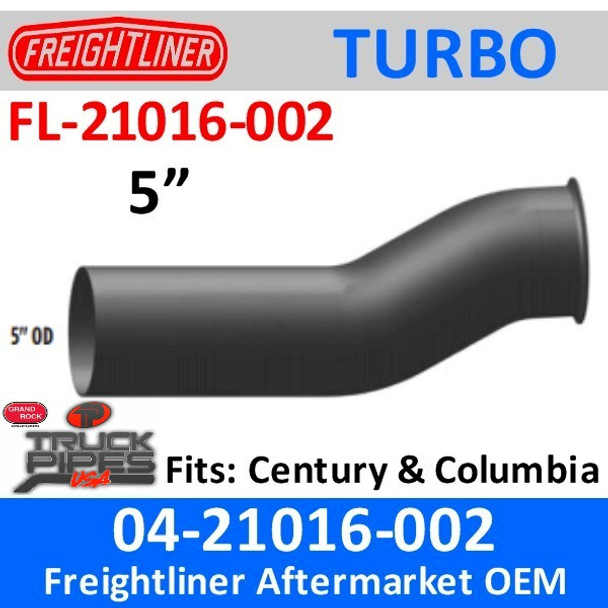 04-21016-002 Freightliner Turbo Exhaust Pipe FL-21016-002