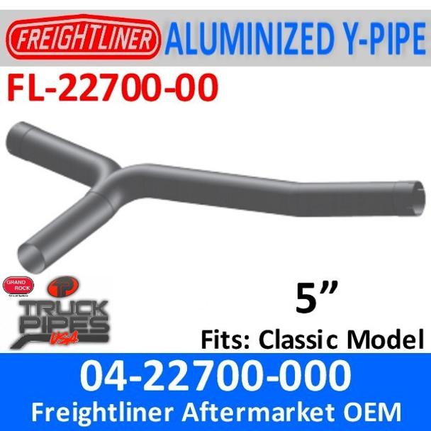 04-22700-000 Aftermarket Freightliner Y-Pipe Exhaust FL-22700-000