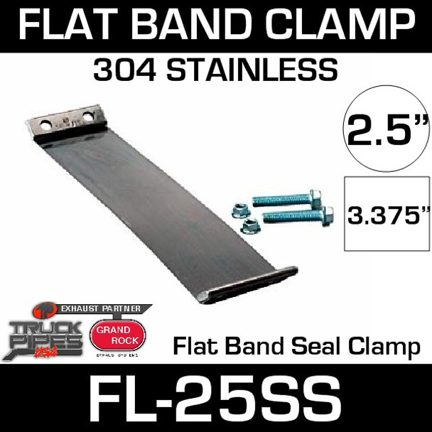 """2.5"""" 304 Stainless Steel Flex-Seal Exhaust Clamp FL-25SS"""
