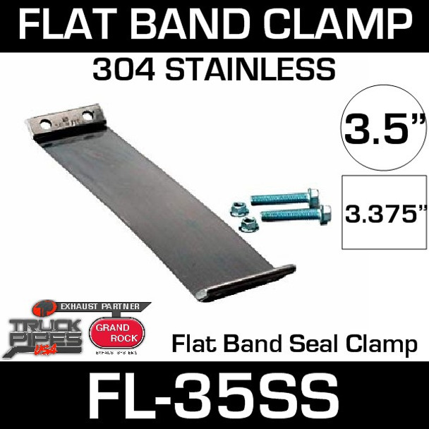 """3.5"""" 304 Stainless Steel Flex-Seal Exhaust Clamp FL-35SS"""