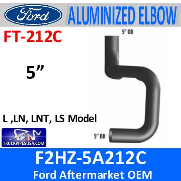 F2HZ-5A212C Ford L, LNT, LTS Model Muffler Inlet FT212C