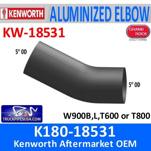 K180-18531 Kenworth Exhaust 26 degree Elbow 5