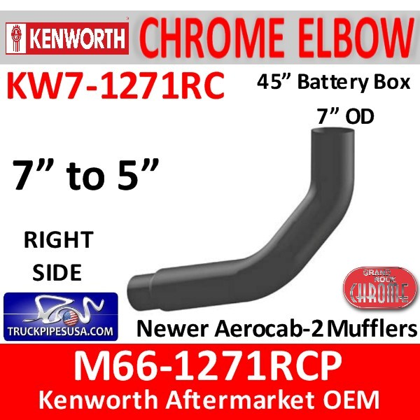 M66-1271RCP Kenworth Right Chrome Exhaust 7