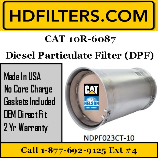 10R-6087 CAT C7/C9 Diesel Particulate Filter