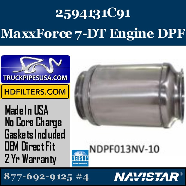2604430R91 Navistar MaxxForce 9-10 Engine DPF