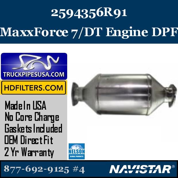 5010830R91 Navistar MaxxForce 7-DT Engine DPF