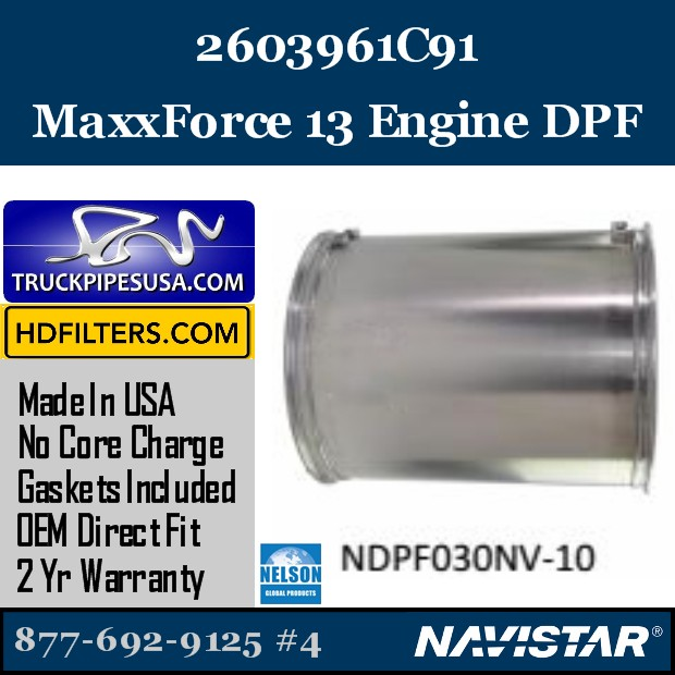 2604870C91 Navistar MaxxForce 9 Engine DPF
