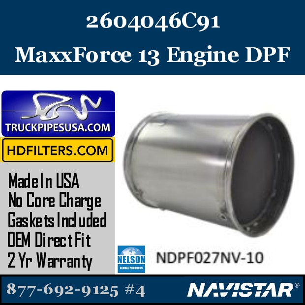 2605796C91 Navistar MaxxForce 9 Engine DPF